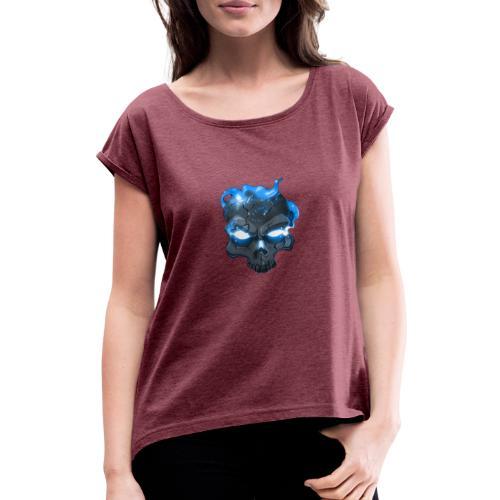 Frosti's Logo - Frauen T-Shirt mit gerollten Ärmeln