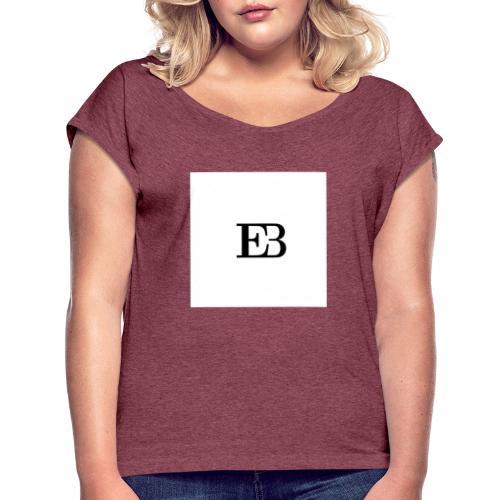 EllèBest Frauen Hoodie - Frauen T-Shirt mit gerollten Ärmeln