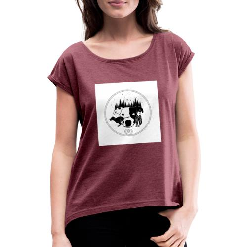 DogExploreEurope - Maglietta da donna con risvolti
