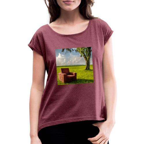 Windows XP - Frauen T-Shirt mit gerollten Ärmeln