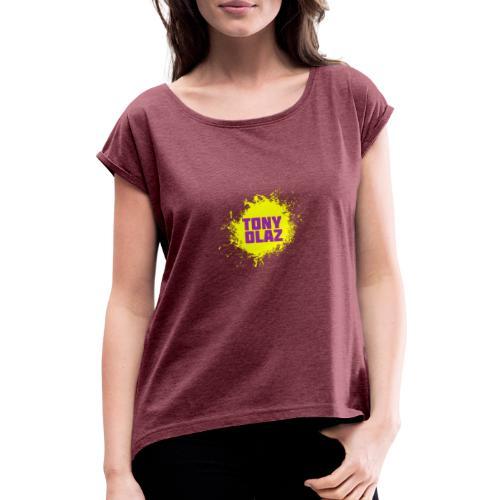 Tony olaz splash - Camiseta con manga enrollada mujer