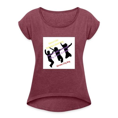 Dance3 - Camiseta con manga enrollada mujer