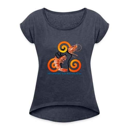 Irmandade das Mariscadas - Camiseta con manga enrollada mujer