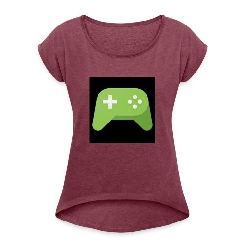 Games Spiel Logo - Frauen T-Shirt mit gerollten Ärmeln