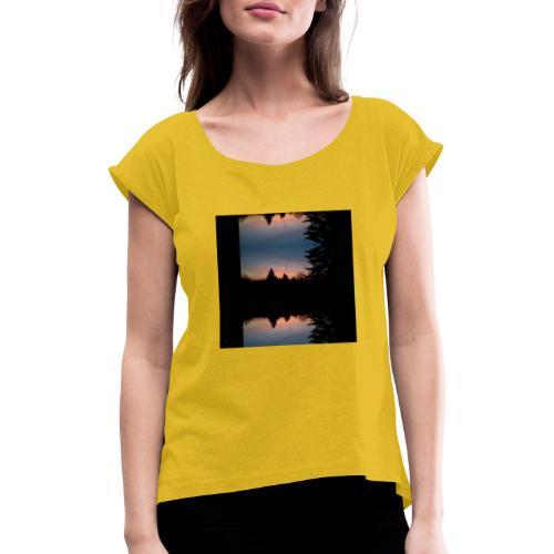 Sonnenhorizont Spiegelung Heller - Frauen T-Shirt mit gerollten Ärmeln