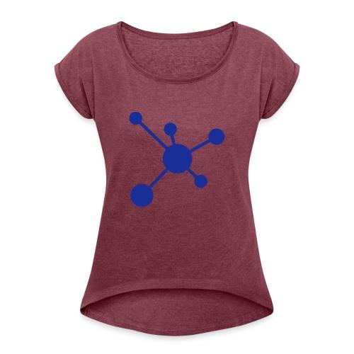 l1 - Frauen T-Shirt mit gerollten Ärmeln
