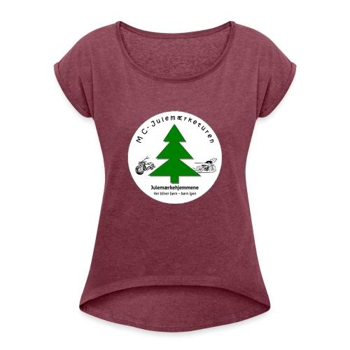 MCJul - Dame T-shirt med rulleærmer