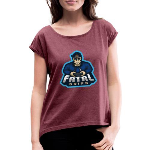 Fatal Grips Merch - T-shirt med upprullade ärmar dam
