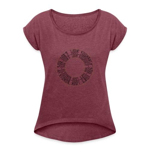 CALLIGRAPHY-CIRCLE - Maglietta da donna con risvolti