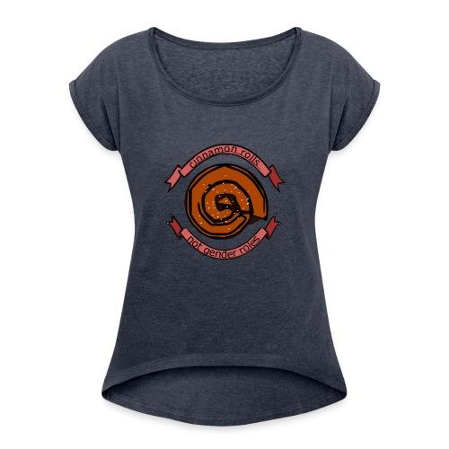 Cinnamon rolls - not gender roles - Dame T-shirt med rulleærmer