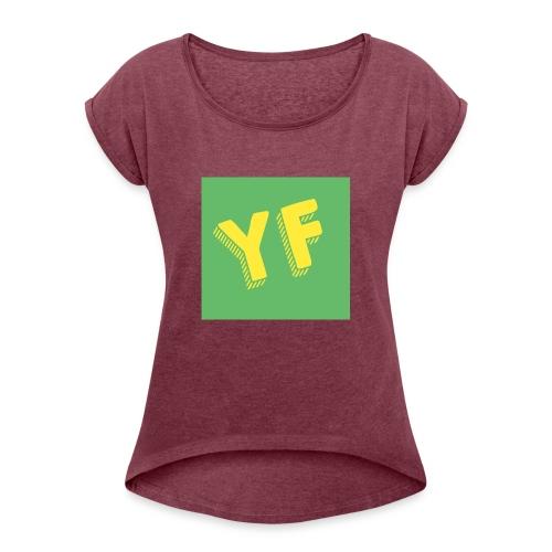 T-Shirt mit Logo - Frauen T-Shirt mit gerollten Ärmeln