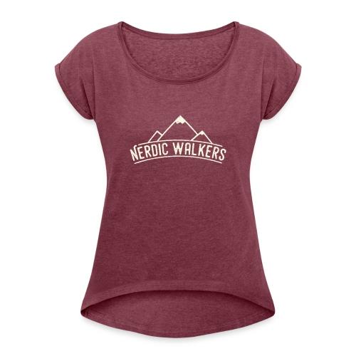 Logo Nerdic Walking offwhite - T-shirt à manches retroussées Femme