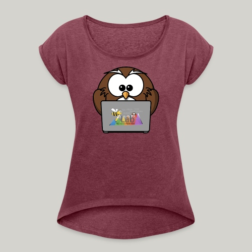 iLab.Owl - Women's T-Shirt with rolled up sleeves