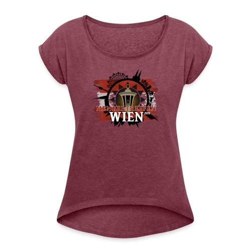 Membertreffen Wien 2019 - Frauen T-Shirt mit gerollten Ärmeln