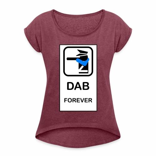 DAB POLICE - Maglietta da donna con risvolti