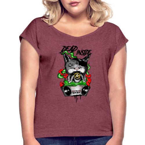 catblaster colore - Maglietta da donna con risvolti