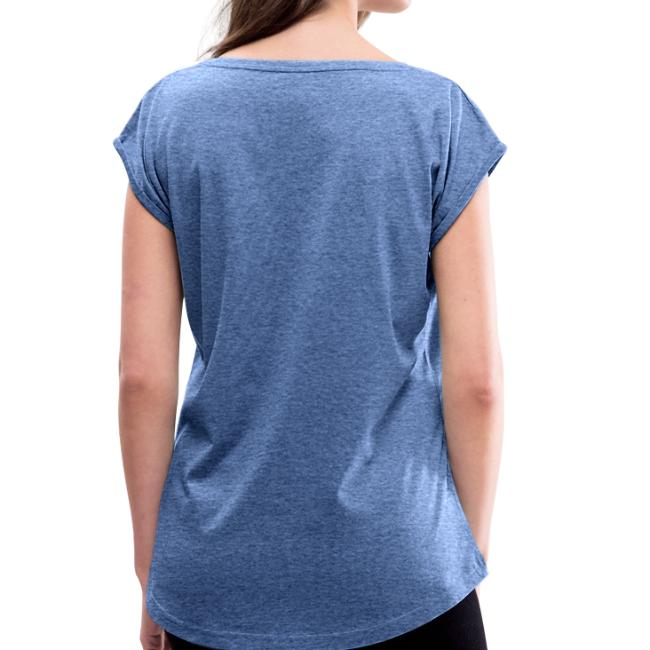 Vorschau: Fuxdeiflsbodschat - Frauen T-Shirt mit gerollten Ärmeln