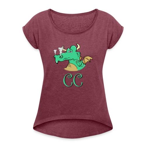 CC mit 2-Seiten - Frauen T-Shirt mit gerollten Ärmeln
