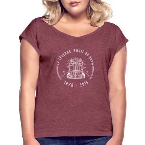 La légende Route du Rhum - Blanc - T-shirt à manches retroussées Femme