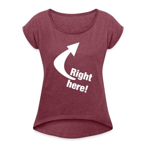Where is your GOD now? - Frauen T-Shirt mit gerollten Ärmeln