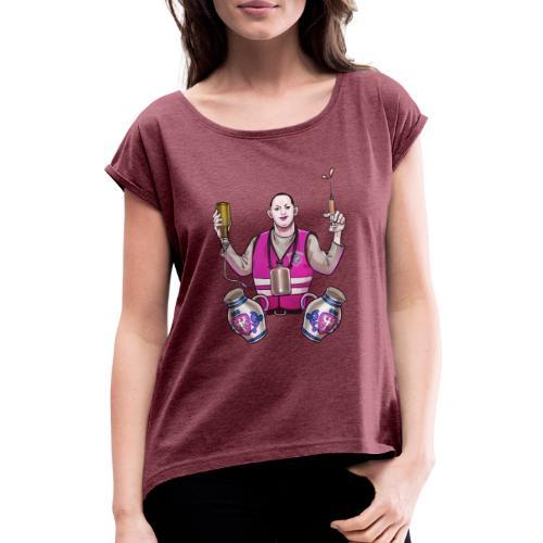 Frankfurt | Bembulance - Frauen T-Shirt mit gerollten Ärmeln