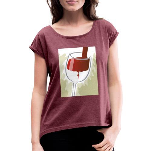 Glas Halfvol - Vrouwen T-shirt met opgerolde mouwen