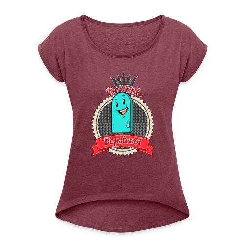 Popsicool - Maglietta da donna con risvolti