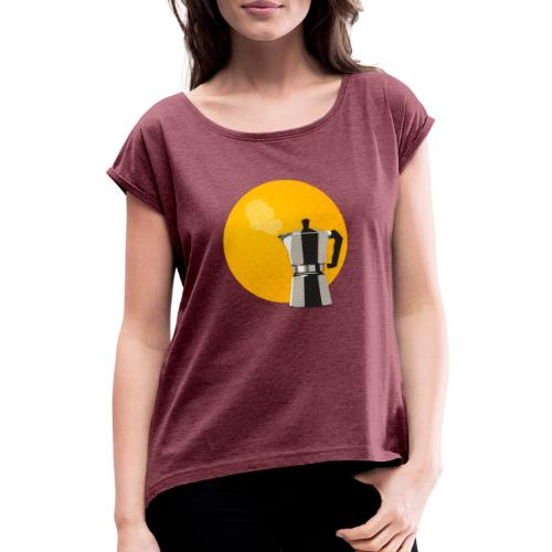 Moka tee - Women's T-Shirt with rolled up sleeves