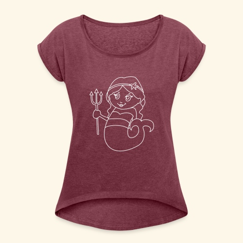 little mermaid - Women's T-Shirt with rolled up sleeves