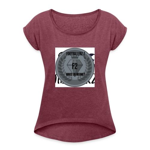 F2FOOTBALLERZ Z youtube kanaal T shirt - Vrouwen T-shirt met opgerolde mouwen