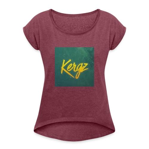 photo - T-shirt med upprullade ärmar dam