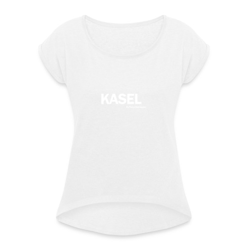 kasel - Camiseta con manga enrollada mujer