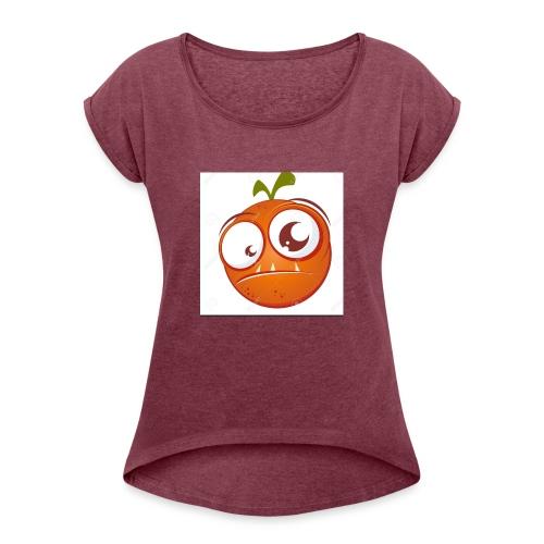 unnamed - T-shirt med upprullade ärmar dam
