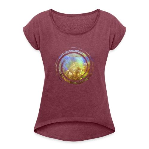 Opal Spirale - Frauen T-Shirt mit gerollten Ärmeln
