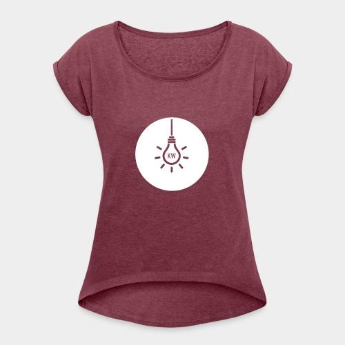 Just KW - Frauen T-Shirt mit gerollten Ärmeln