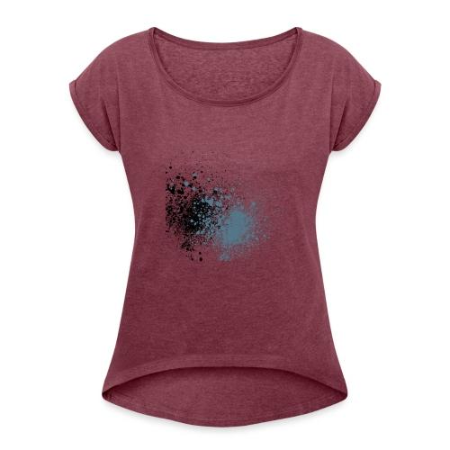 färger - T-shirt med upprullade ärmar dam