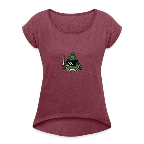 iluminati cool - Camiseta con manga enrollada mujer