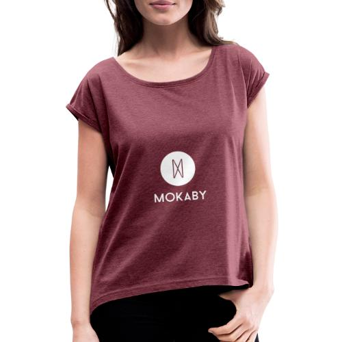 MokabyLOGO 35 - Frauen T-Shirt mit gerollten Ärmeln