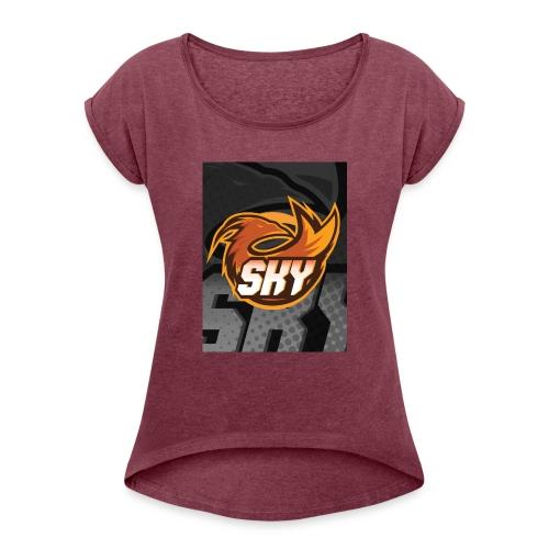 skygaming - Dame T-shirt med rulleærmer