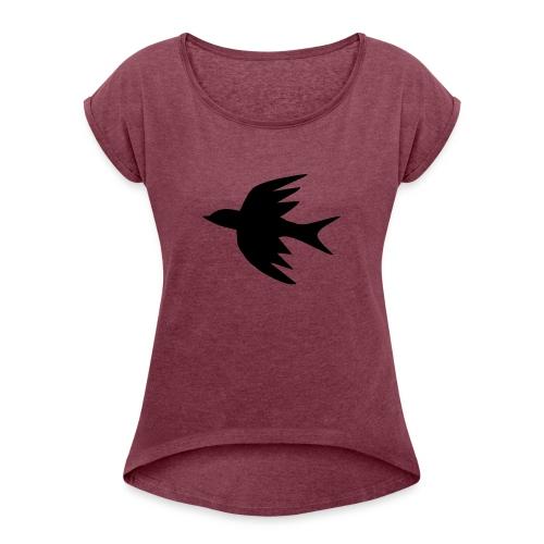 TheBrid - Dame T-shirt med rulleærmer