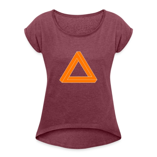 Animantex Logo - Women's T-Shirt with rolled up sleeves