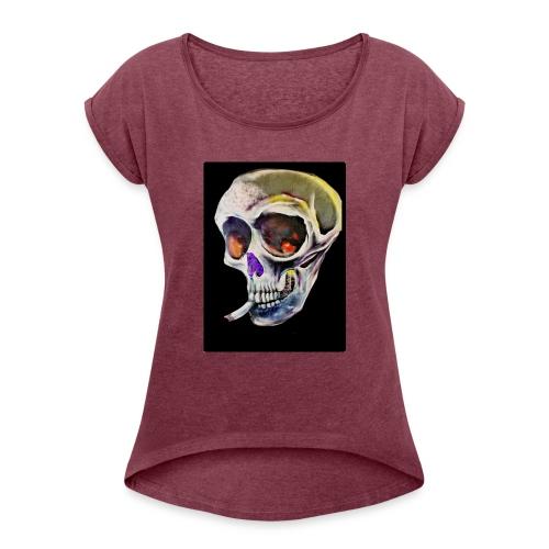 kokotalberca - Camiseta con manga enrollada mujer