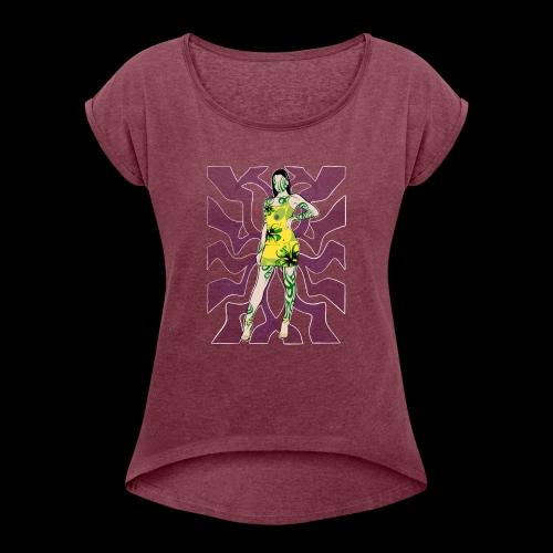 Motif Girl - T-shirt à manches retroussées Femme
