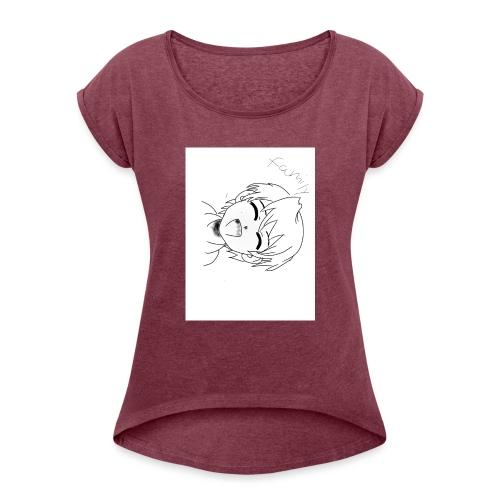 IMG 1139 - T-shirt med upprullade ärmar dam