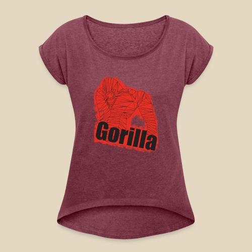 Red Gorilla - T-shirt à manches retroussées Femme