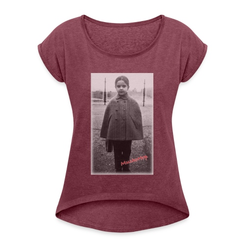 Little Hopper transparent - Women's T-Shirt with rolled up sleeves
