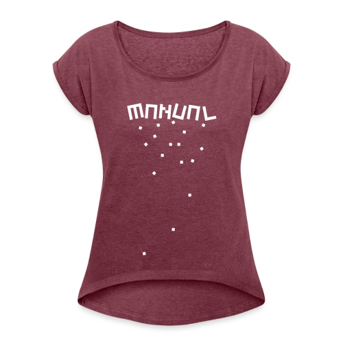 Manual Music blocks - Women's T-Shirt with rolled up sleeves