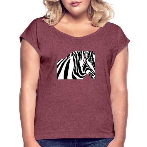 zebra - T-shirt à manches retroussées Femme