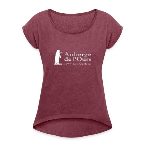 Auberge Logo - T-shirt à manches retroussées Femme