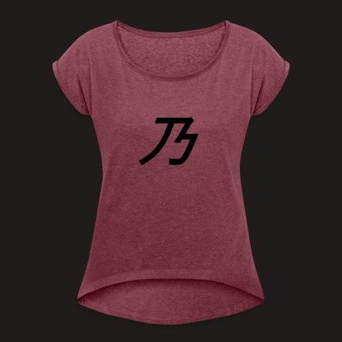 B Logo - Dame T-shirt med rulleærmer